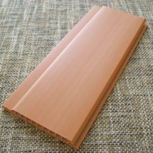 Вагонка ПВХ коричнево-оранжевая